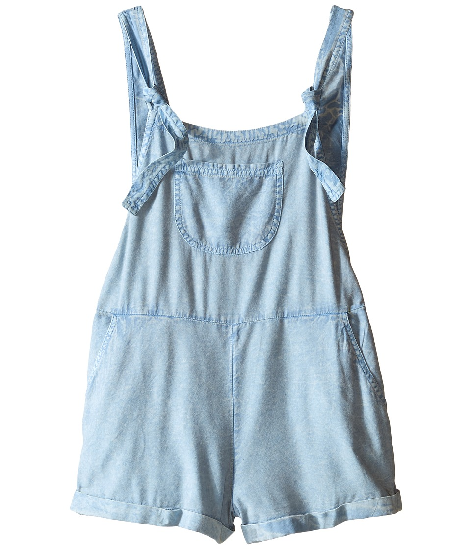 Billabong Kids - Washed Ashore Overalls (Little Kids/Big Kids) (Chambray) Girl's Overalls One Piece
