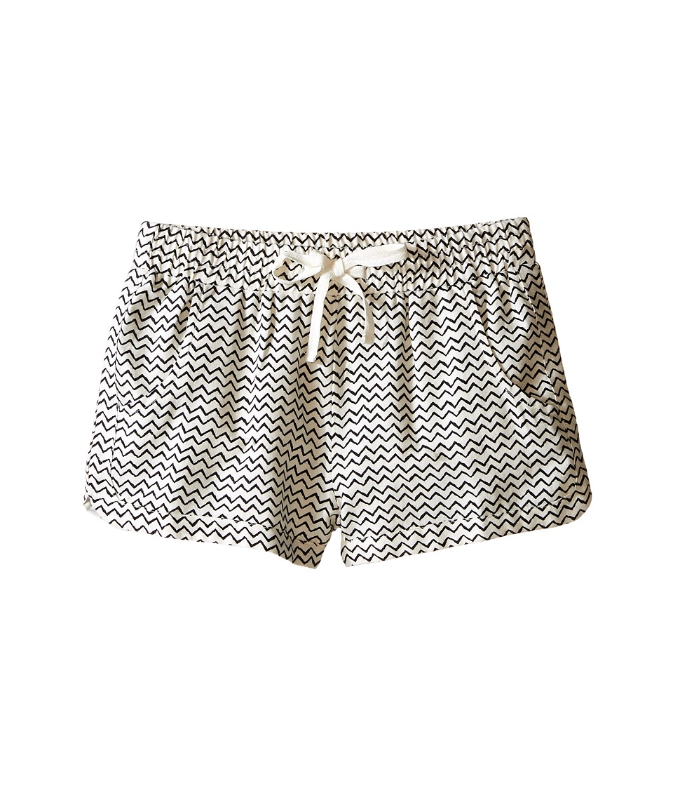 Billabong Kids - Beach Trippin Shorts (Little Kids/Big Kids) (Black/White Cap) Girl's Shorts