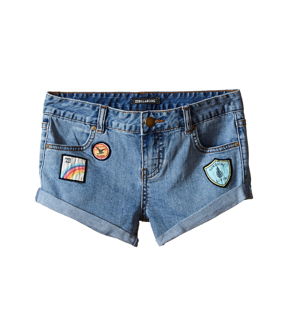 Billabong Kids - Coolside Denim Shorts (Little Kids/Big Kids) (Blue Tide) Girl's Shorts
