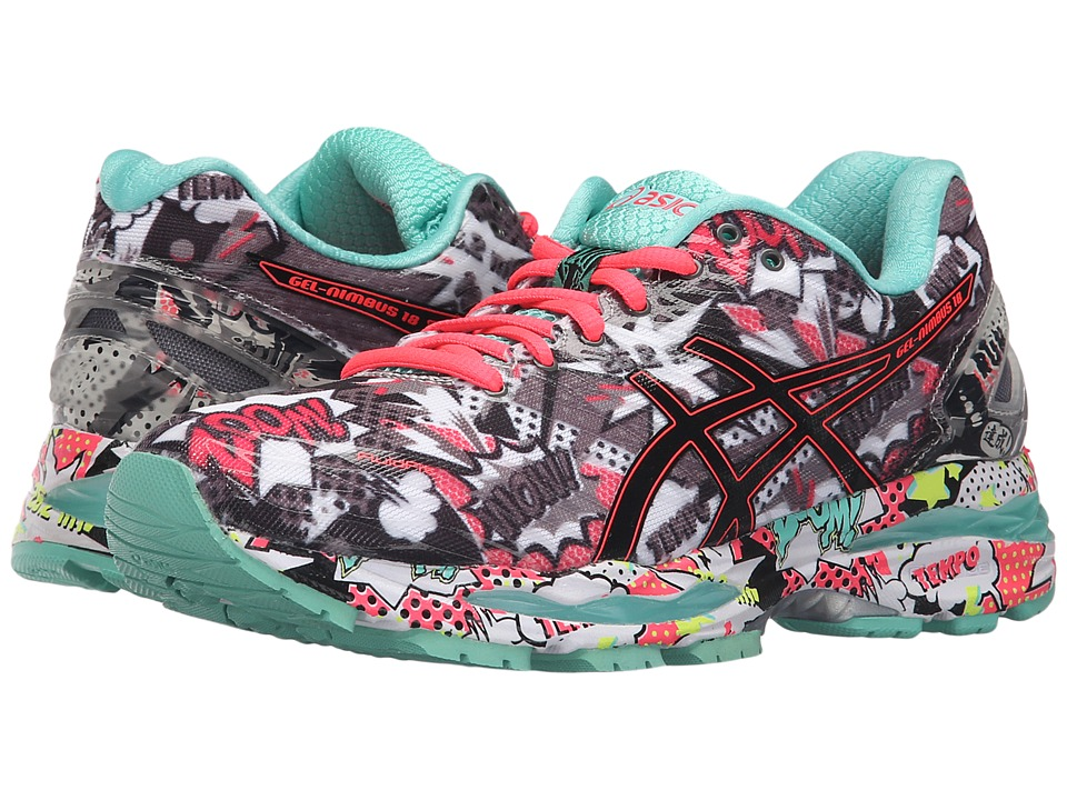 ASICS - Gel-Nimbus 18 (Carbon/Black/Cockatoo) Women's Running Shoes