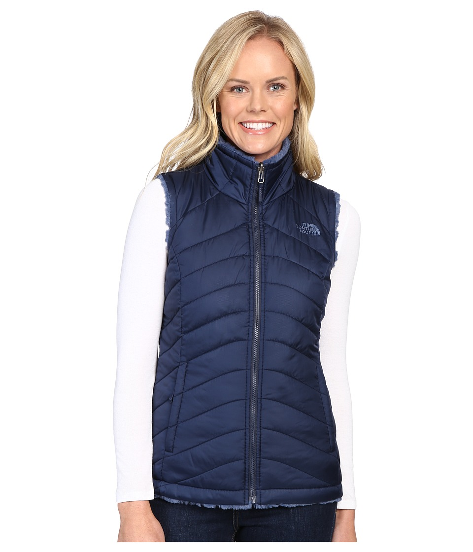 The North Face - Mossbud Swirl Reversible Vest (Cosmic Blue/Shady Blue) Women's Vest