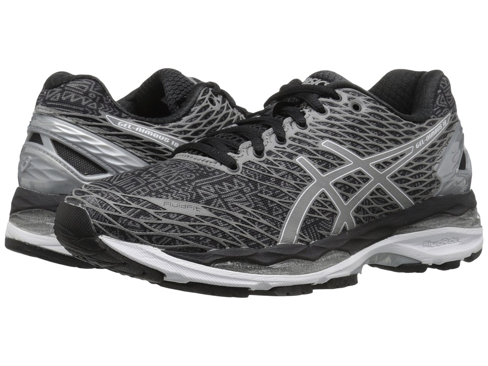 ASICS - Gel-Nimbus 18 Lite-Show (Black/Silver/Shark) Women's Running Shoes