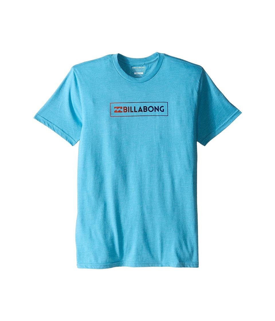Billabong Kids - Unity Block T-Shirt (Big Kids) (Aqua Heather) Boy's T Shirt