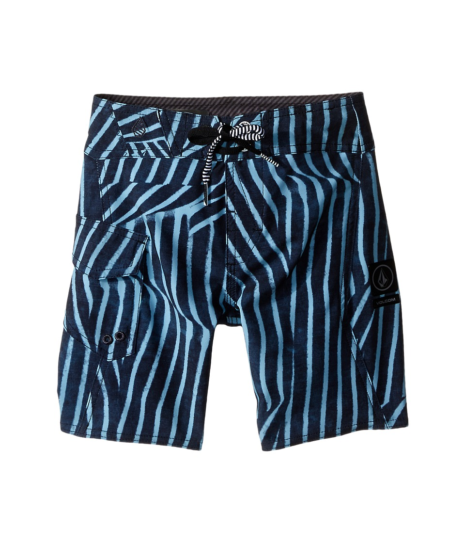 Volcom Kids - Squiggle Mod Boardshorts (Big Kids) (Navy) Boy's Swimwear