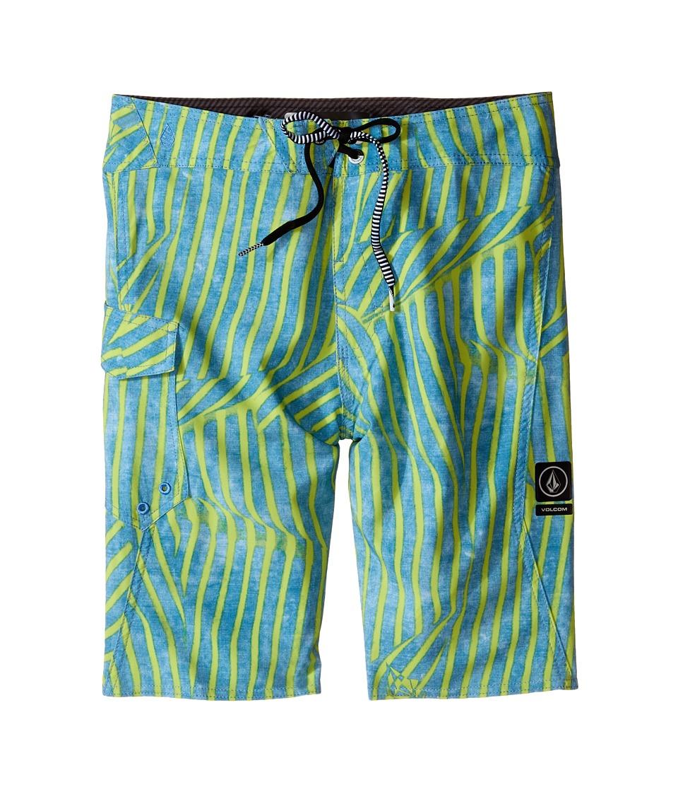 Volcom Kids - Squiggle Mod Boardshorts (Big Kids) (Stormy Blue) Boy's Swimwear