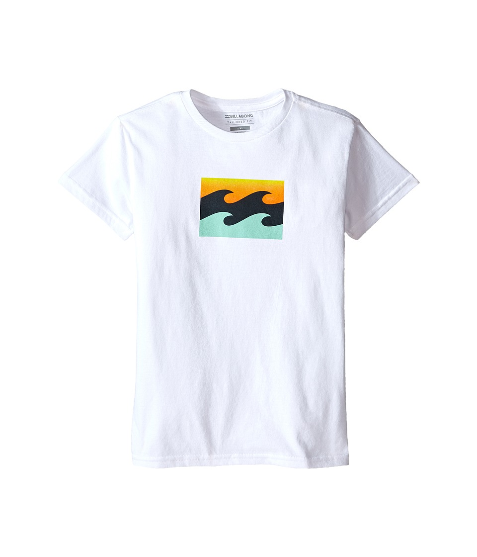 Billabong Kids - Team Wave T-Shirt (Toddler/Little Kids) (White) Boy's T Shirt
