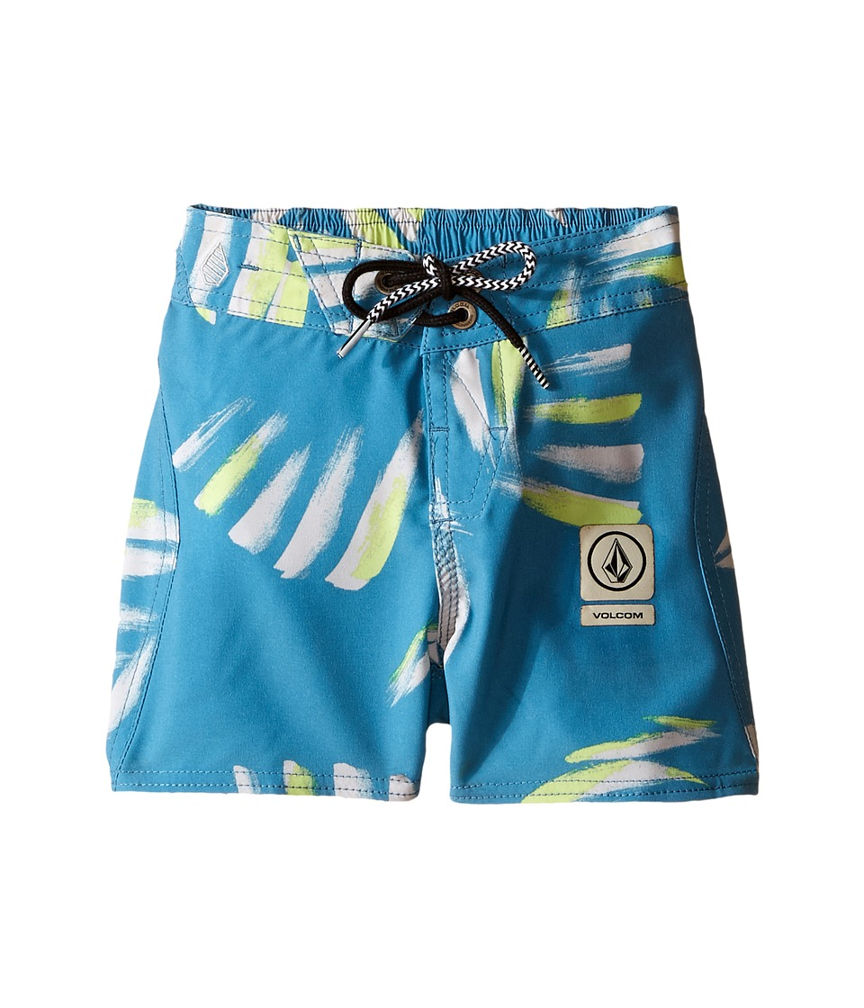Volcom Kids - Party Pack Neuvo Elastic Waist Boardshorts (Big Kids) (Stormy Blue) Boy's Swimwear