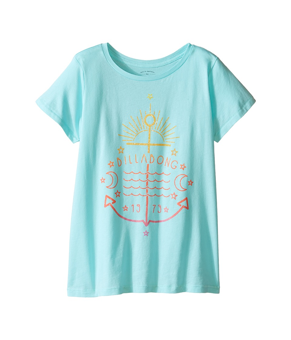 Billabong Kids - Surf Anchor Tee (Little Kids/Big Kids) (Surf Blue) Girl's T Shirt