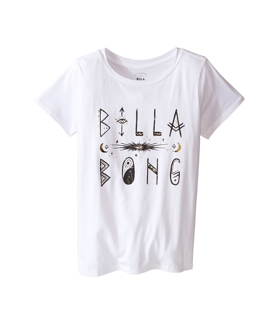 Billabong Kids - Mystic Scribble Tee (Little Kids/Big Kids) (White) Girl's T Shirt