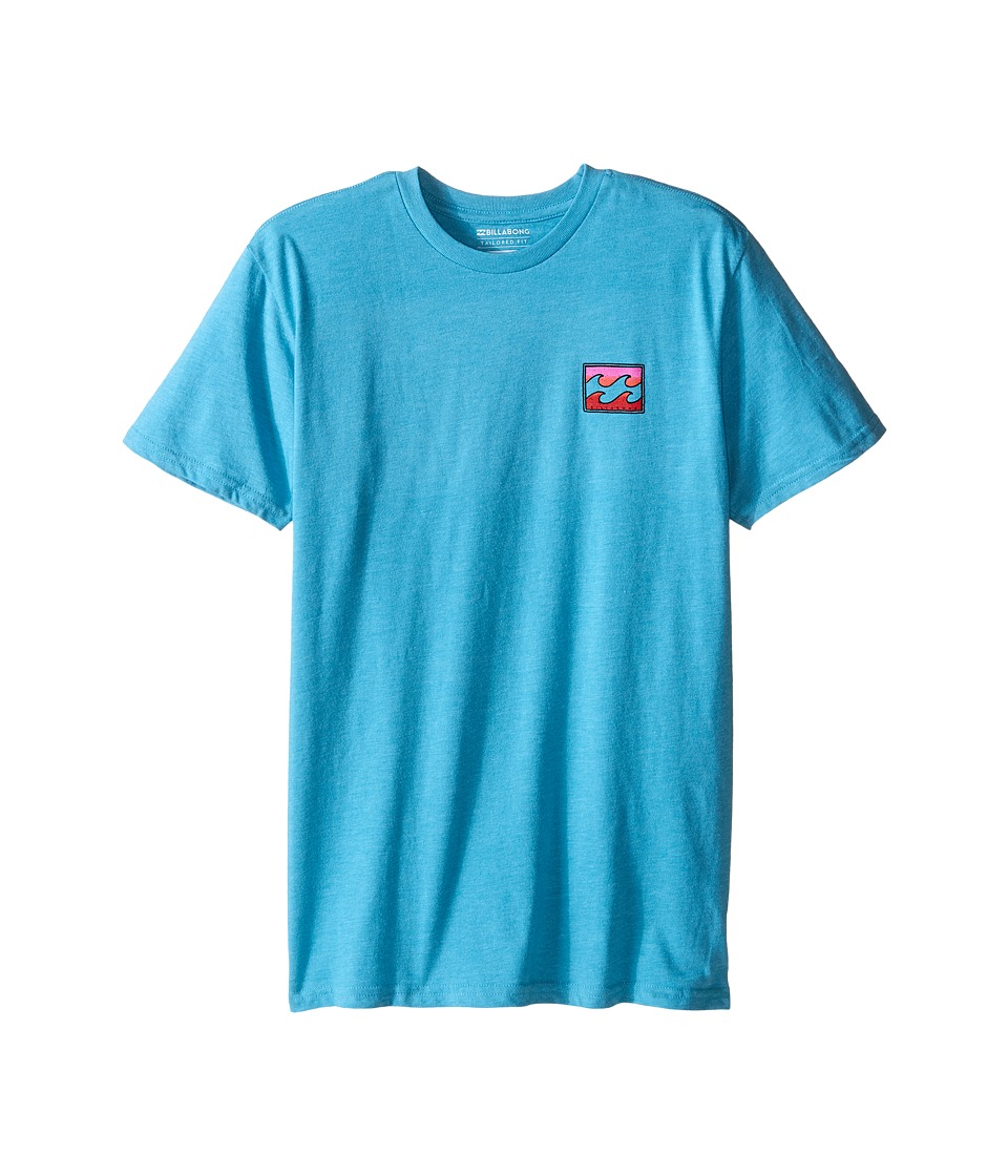 Billabong Kids - Adrift T-Shirt (Big Kids) (Aqua Heather) Boy's Short Sleeve Pullover