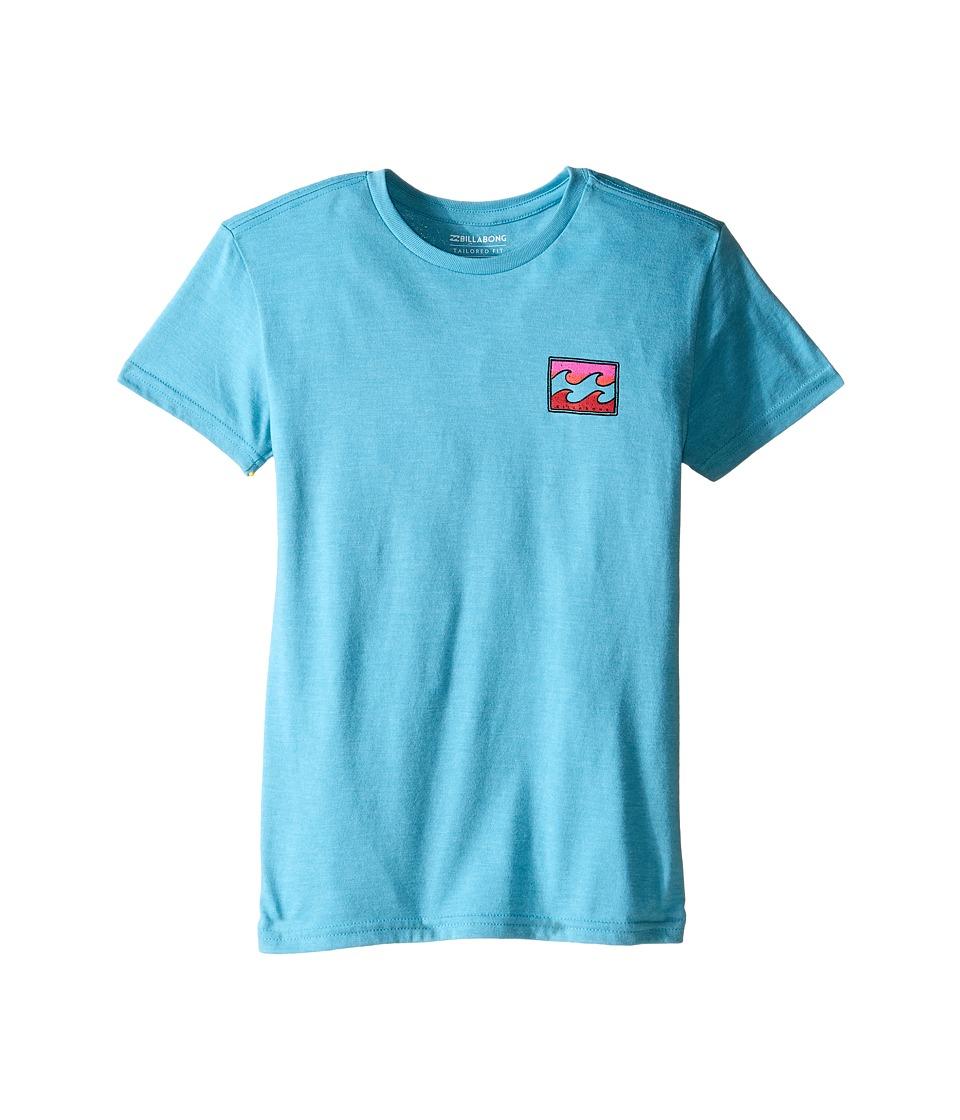 Billabong Kids - Adrift T-Shirt (Toddler/Little Kids) (Aqua Heather) Boy's T Shirt