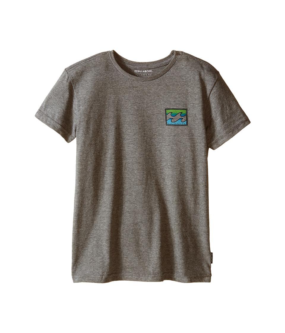 Billabong Kids - Adrift T-Shirt (Toddler/Little Kids) (Dark Grey Heather) Boy's T Shirt