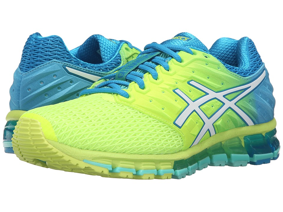ASICS - Gel-Quantum 180 2 (Safety Yellow/White/Blue Jewel) Women's Running Shoes