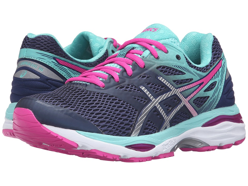 ASICS - Gel-Cumulus(r) 18 (White/Indigo Blue/Lavender) Women's Running Shoes
