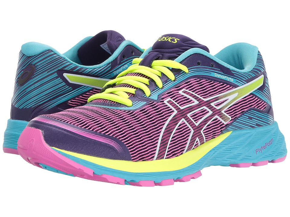 ASICS - DynaFlyte (Pink Glow/Safety Yellow/Aquarium) Women's Running Shoes