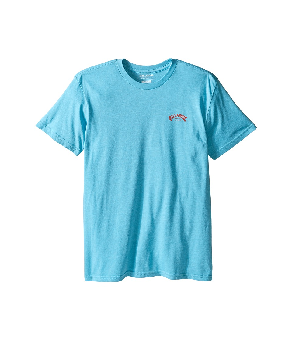 Billabong Kids - Arch T-Shirt (Big Kids) (Aqua Heather) Boy's T Shirt