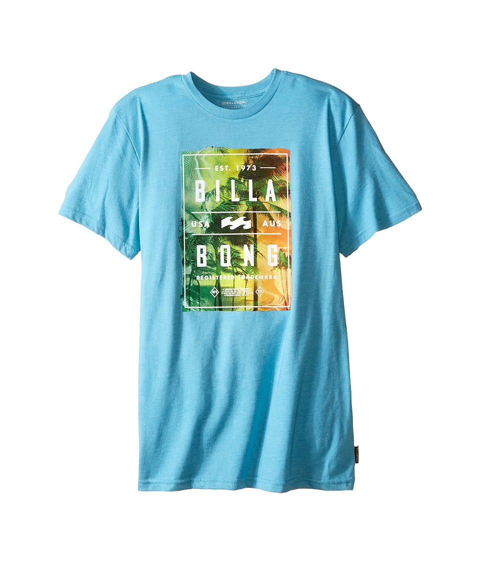 Billabong Kids - Static Paradise T-Shirt (Big Kids) (Aqua Heather) Boy's Short Sleeve Pullover