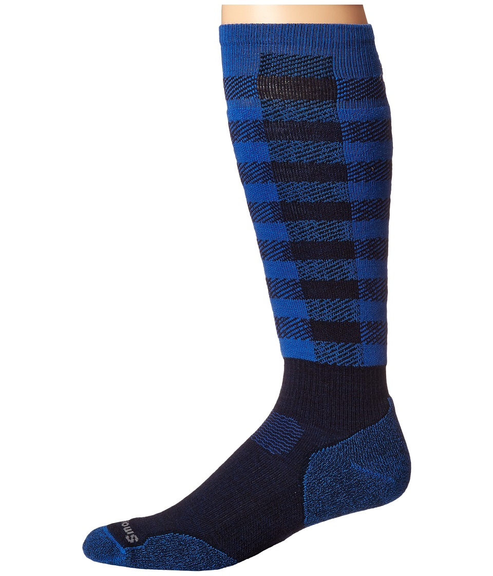 Smartwool - PhD Slopestyle Light Ifrane (Navy) Men's Knee High Socks Shoes
