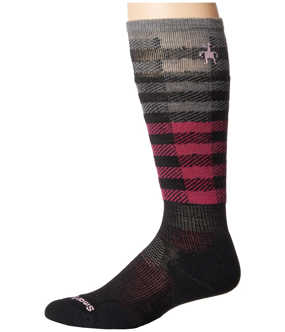 Smartwool - PhD Slopestyle Light Ifrane (Black/Berry) Men's Knee High Socks Shoes