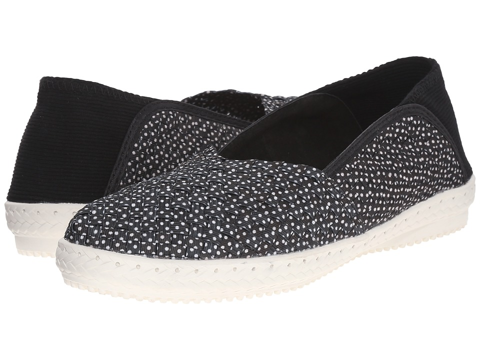 bernie mev. - Beth (Black Polka Dot) Women's Slip on Shoes