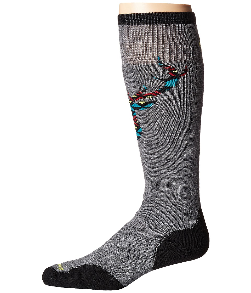 Smartwool - PhD Slopestyle Medium Akaigawa (Medium Gray) Men's Knee High Socks Shoes