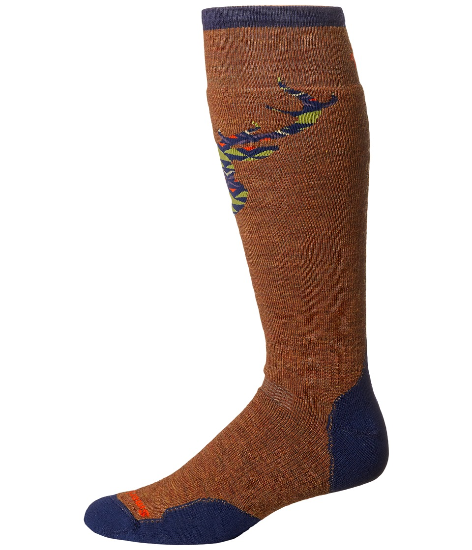 Smartwool - PhD Slopestyle Medium Akaigawa (Caramel) Men's Knee High Socks Shoes