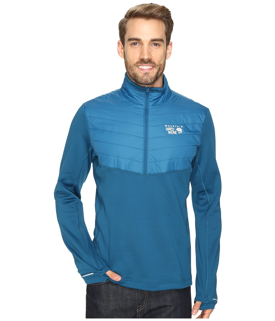 Mountain Hardwear - 32 Insulated 1/2 Zip (Phoenix Blue) Men's Long Sleeve Pullover