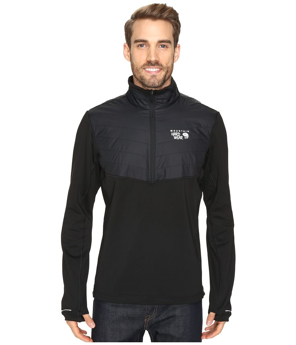 Mountain Hardwear - 32 Insulated 1/2 Zip (Black) Men's Long Sleeve Pullover