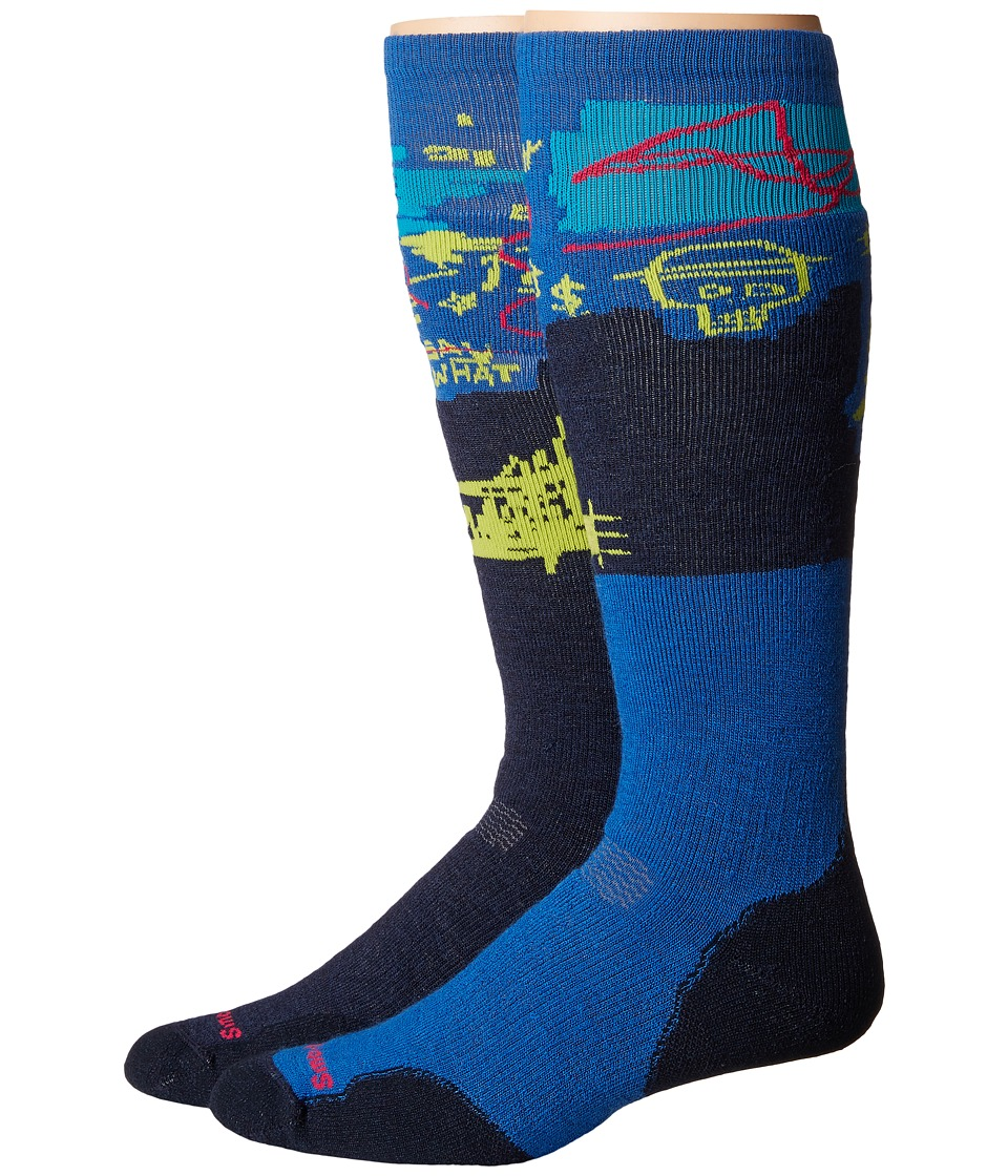 Smartwool - PhD Slopestyle Medium Craigieburn (Deep Navy) Men's Knee High Socks Shoes