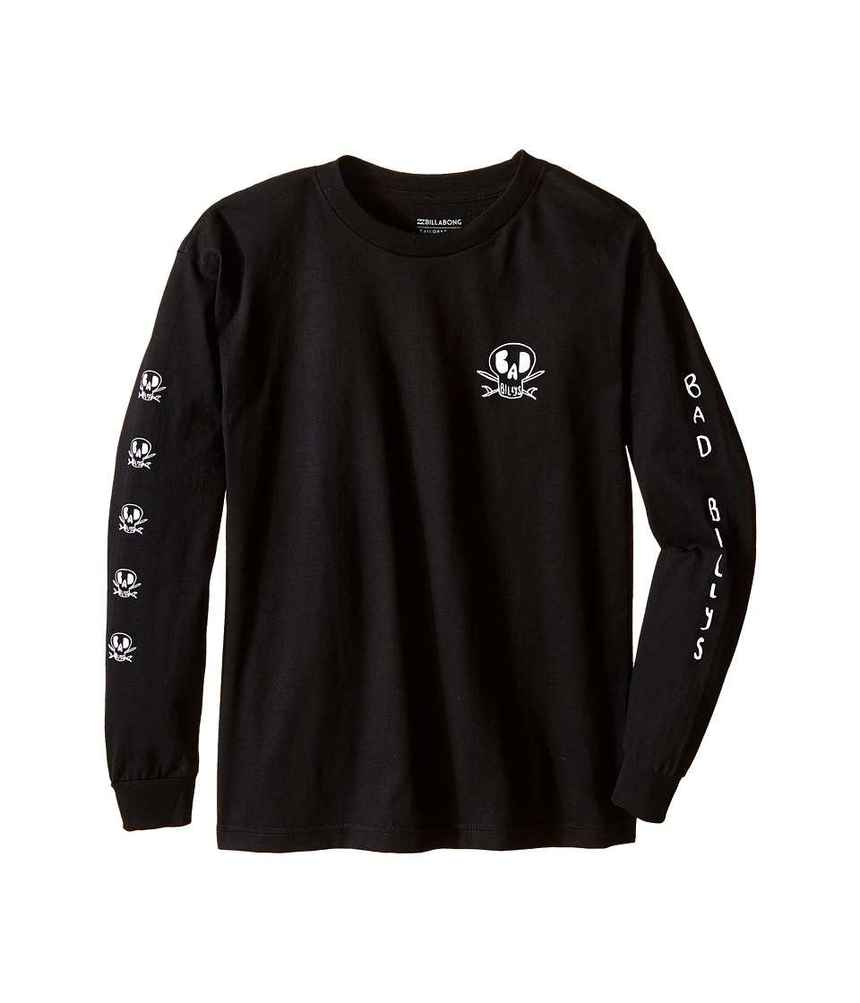 Billabong Kids - Dead Shred Long Sleeve T-Shirt (Big Kids) (Black) Boy's Long Sleeve Pullover