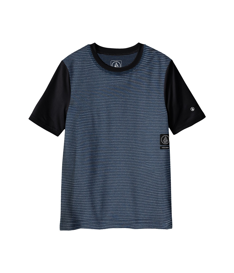 Volcom Kids - Stripe Heather Short Sleeve Top (Big Kids) (Navy Paint) Boy's Short Sleeve Pullover