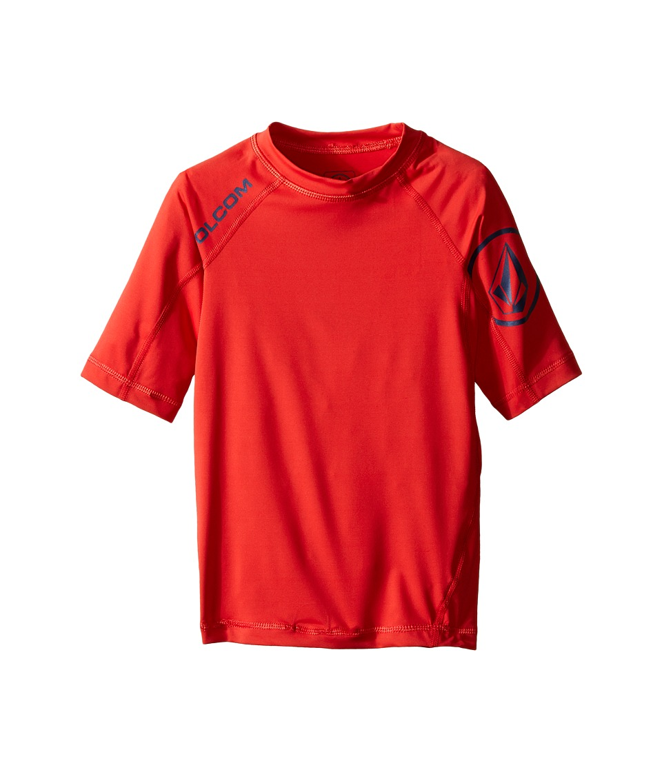 Volcom Kids - Solid Short Sleeve Top (Big Kids) (Dust Red) Boy's Short Sleeve Pullover