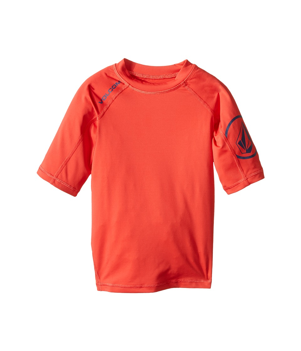 Volcom Kids - Solid Short Sleeve Top (Toddler/Little Kids) (Dust Red) Boy's Short Sleeve Pullover