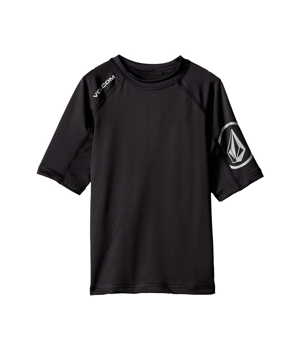 Volcom Kids - Solid Short Sleeve Top (Toddler/Little Kids) (Black) Boy's Short Sleeve Pullover