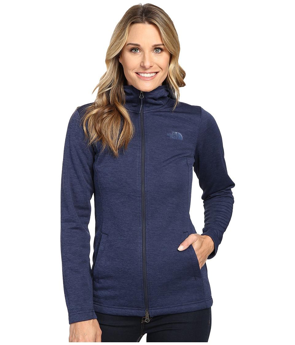 The North Face - Meadowbrook Raschel Parka (Cosmic Blue Heather) Women's Coat