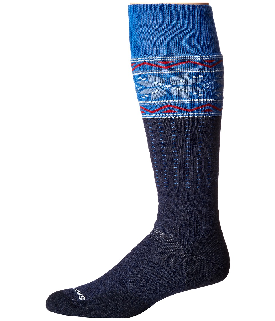 Smartwool - PhD Slopestyle Medium Wenke (Navy) Men's Knee High Socks Shoes