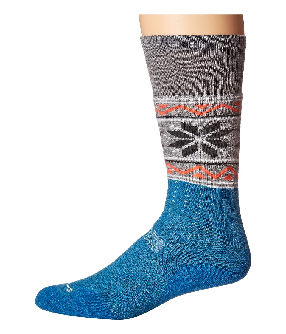 Smartwool - PhD Slopestyle Medium Wenke (Glacial Blue) Men's Knee High Socks Shoes