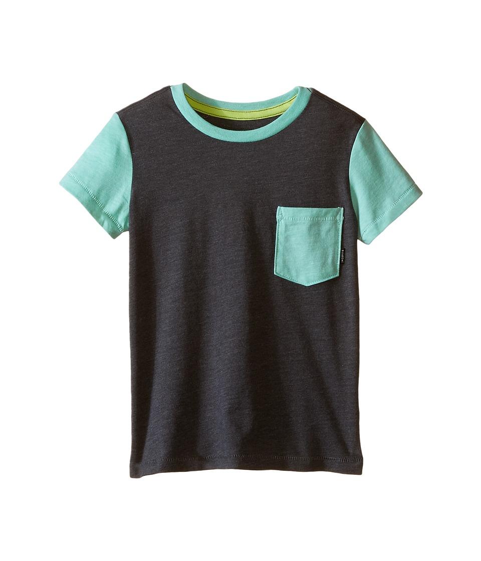 Billabong Kids Zenith Short Sleeve Crew (Toddler/Little Kids) (Dark Grey Heather) Boy
