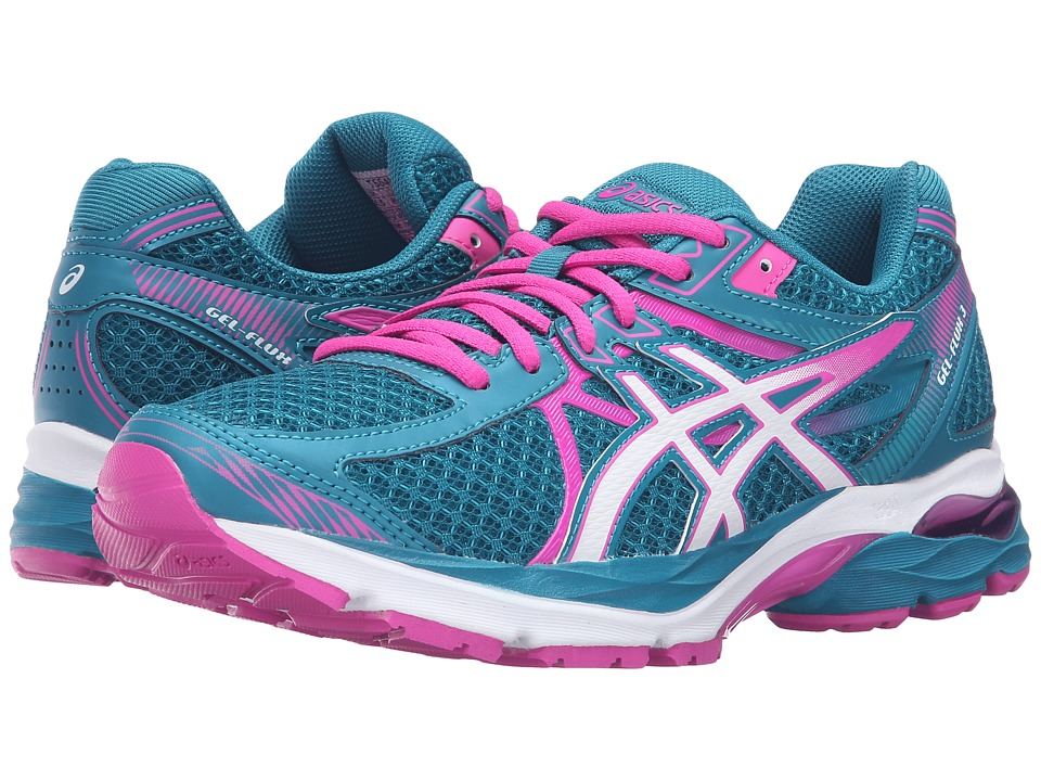 ASICS - GEL-Flux 3 (Ocean Depth/White/Pink Glow) Women's Running Shoes