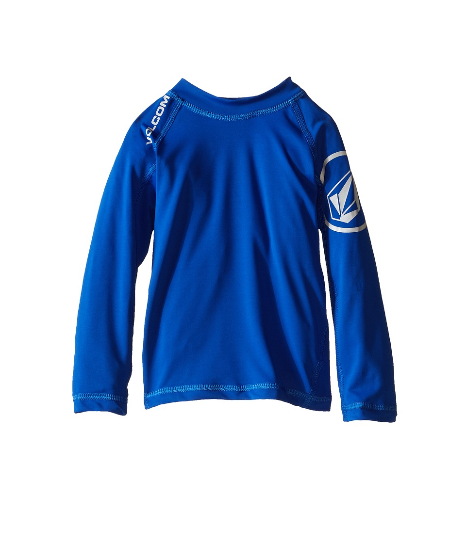 Volcom Kids - Solid Long Sleeve Top (Toddler/Little Kids) (Estate Blue) Boy's Long Sleeve Pullover