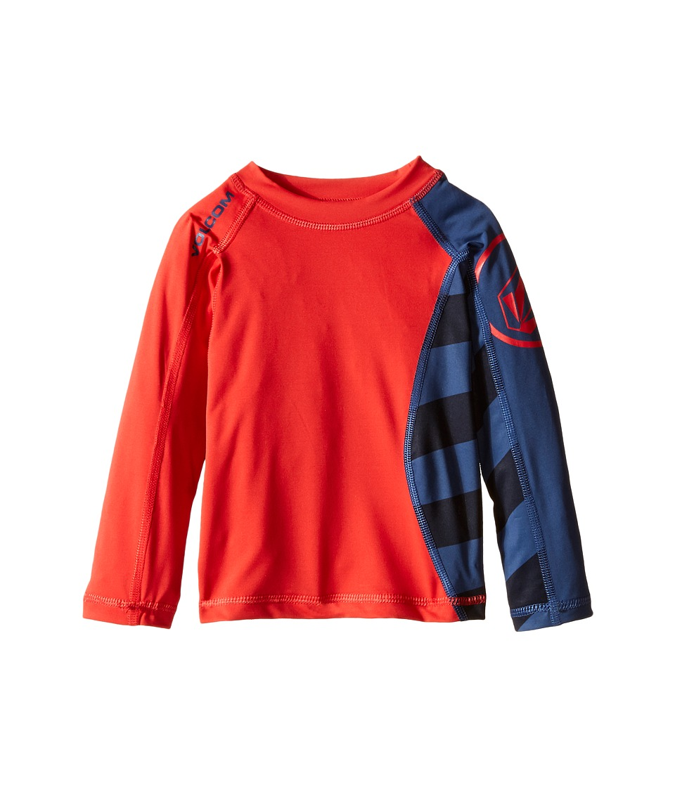 Volcom Kids - Change Up Long Sleeve Top (Big Kids) (Navy Paint) Boy's Swimwear