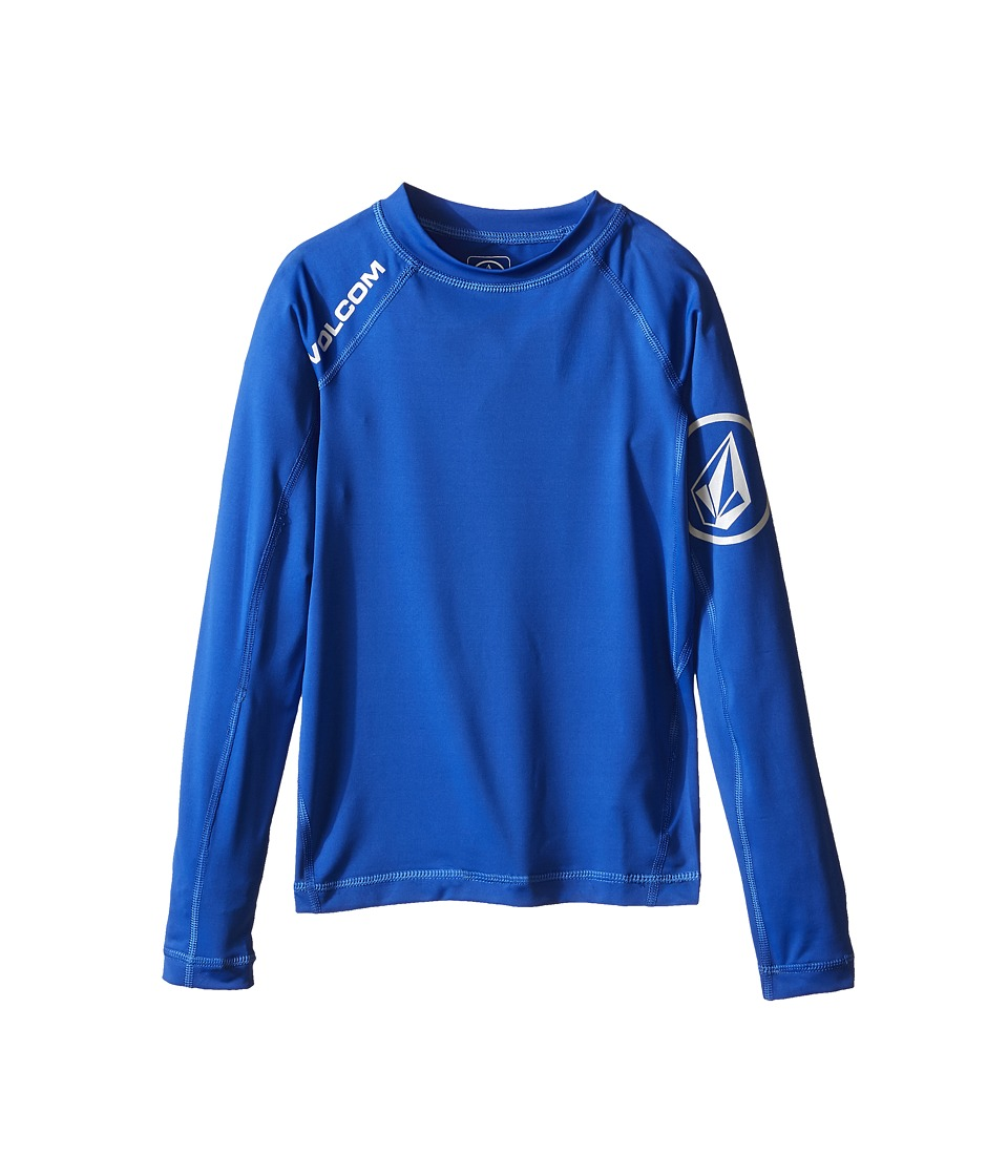 Volcom Kids - Solid Long Sleeve Top (Big Kids) (Estate Blue) Boy's Long Sleeve Pullover