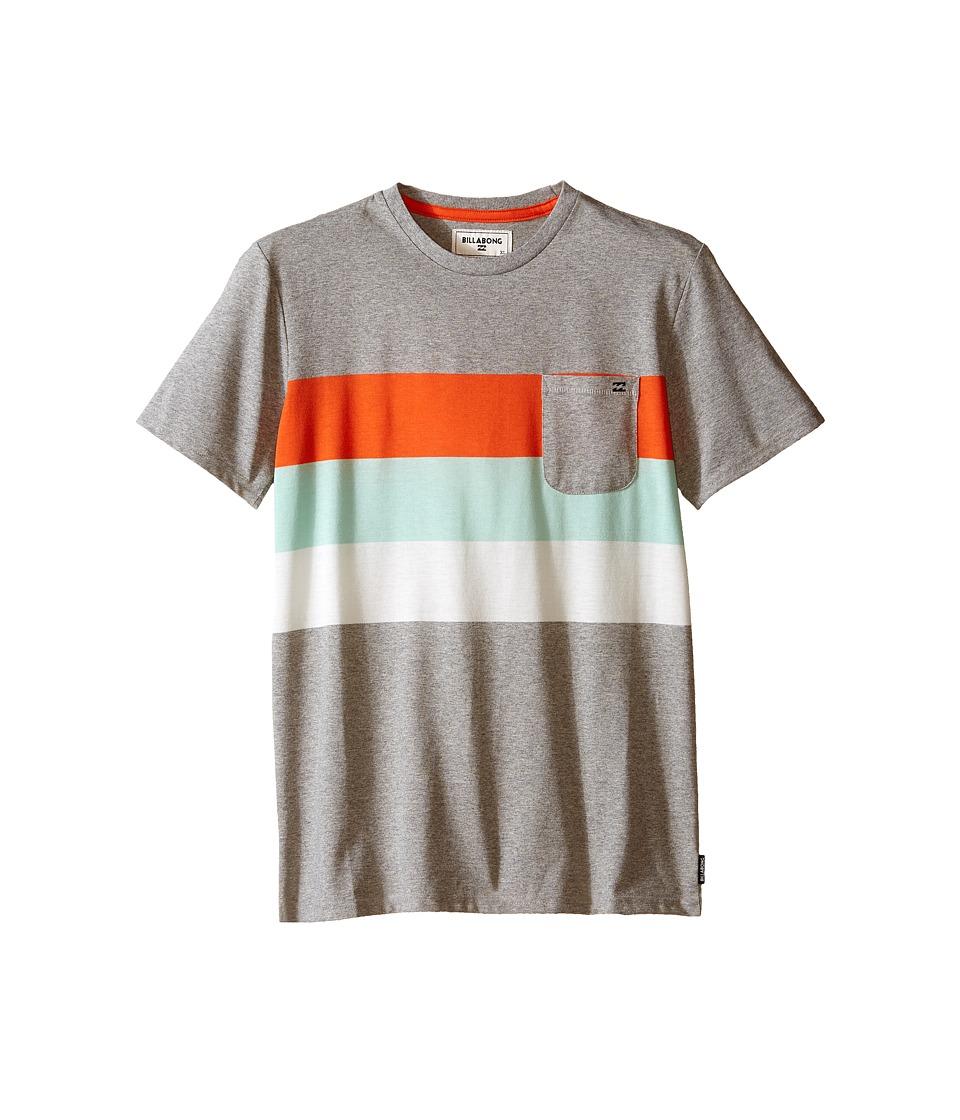Billabong Kids - Slice Short Sleeve Crew (Big Kids) (Grey Heather) Boy's T Shirt