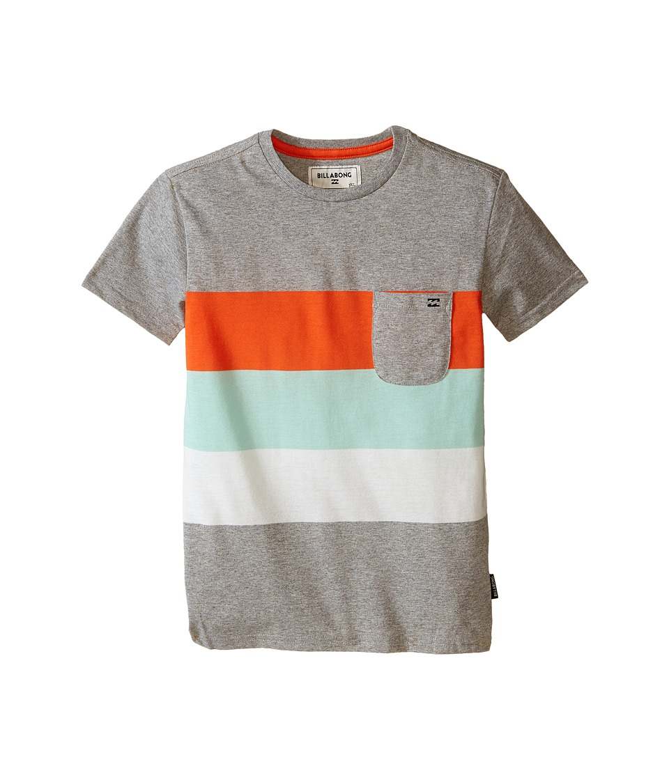 Billabong Kids - Slice Short Sleeve Crew (Toddler/Little Kids) (Grey Heather) Boy's T Shirt