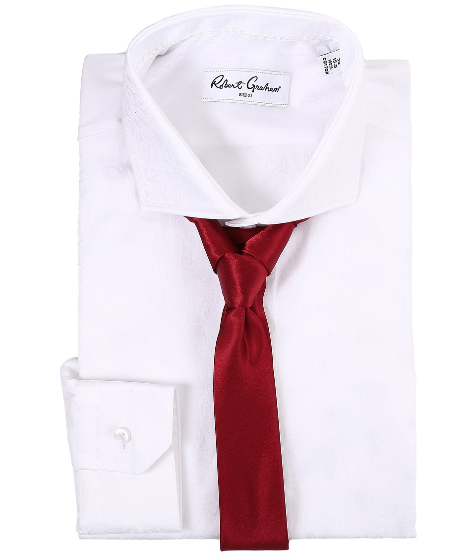 Robert Graham - Cont Dress Shirt (White) Men's Long Sleeve Button Up