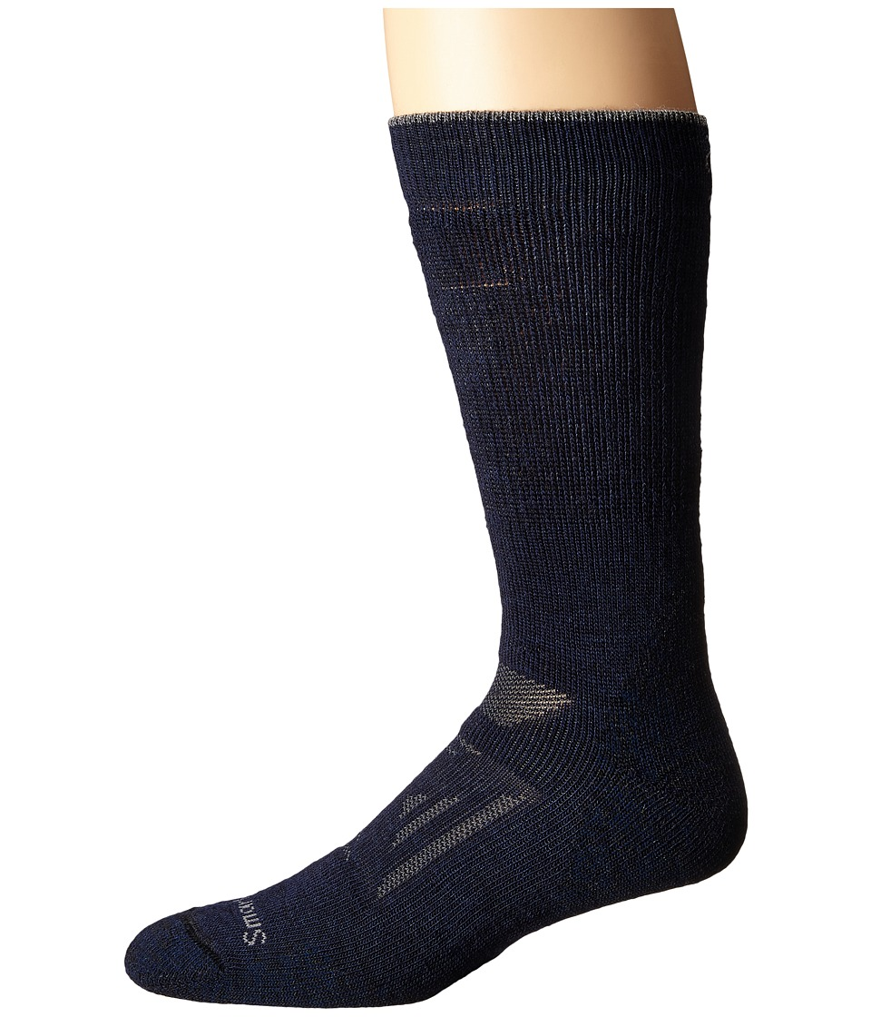 Smartwool - PhD Outdoor Heavy Crew (Deep Navy) Men's Crew Cut Socks Shoes