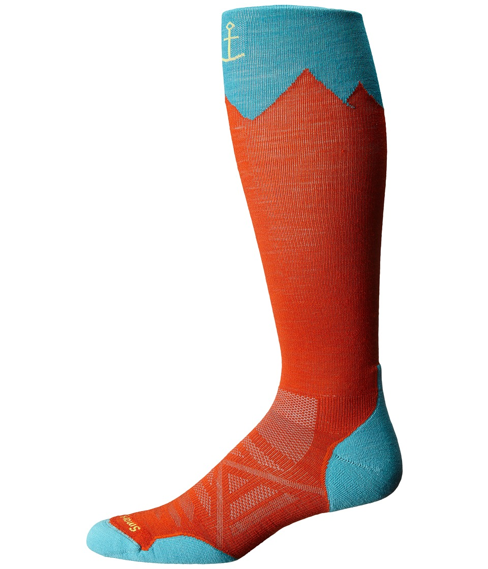 Smartwool - PhD Outdoor Mountaineer (Bright Orange) Men's Knee High Socks Shoes