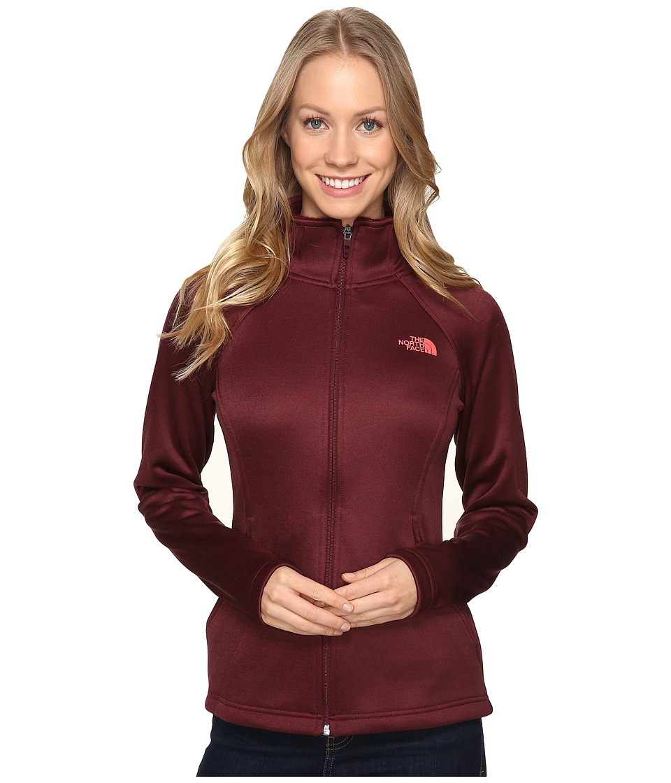The North Face - Agave Full Zip (Deep Garnet Red Heather) Women's Sweatshirt