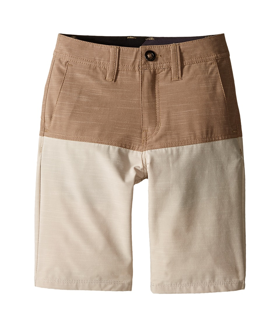Volcom Kids SNT Block Shorts (Big Kids) (Beige) Boy