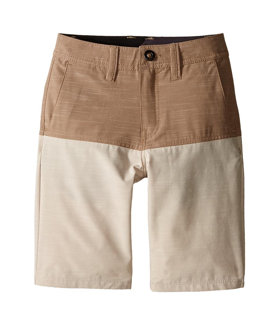 Volcom Kids - SNT Block Shorts (Big Kids) (Beige) Boy's Swimwear